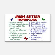 Irish Setter Property Laws 2 Rectangle Car Magnet