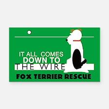 Fox Terrier Rescue Rectangle Car Magnet