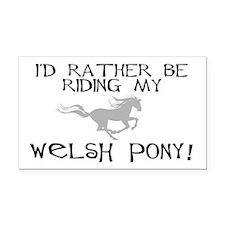 Rather-Welsh Pony! Rectangle Car Magnet