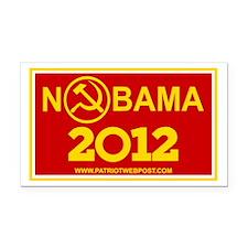 NoBama 2012 Commie Logo Rectangle Car Magnet