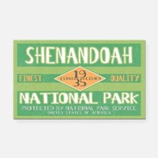 Shenandoah National Park (Retro) Rectangle Car Mag