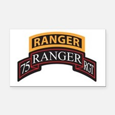 75 Ranger RGT scroll with Ran Rectangle Car Magnet