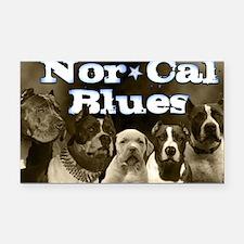 Nor Cal Blues Rectangle Car Magnet