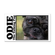 Odie Rectangle Car Magnet