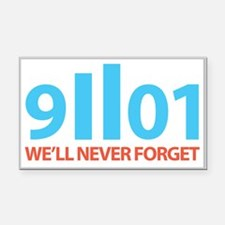 9-11-2001 We'll Never Forget Rectangle Car Magnet