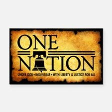 One Nation - Parchment Rectangle Car Magnet