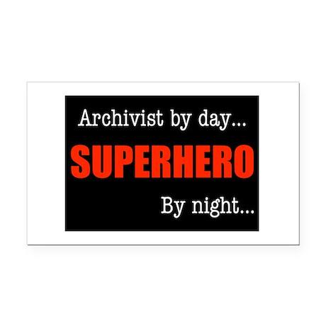Superhero Archivist Rectangle Car Magnet