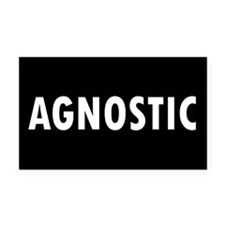 AGNOSTIC... Rectangle Car Magnet