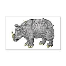 Rhino (Indian) Rectangle Car Magnet