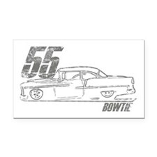 '55 Bowtie Distressed Rectangle Car Magnet