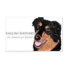 English Shepherd Rectangle Car Magnet