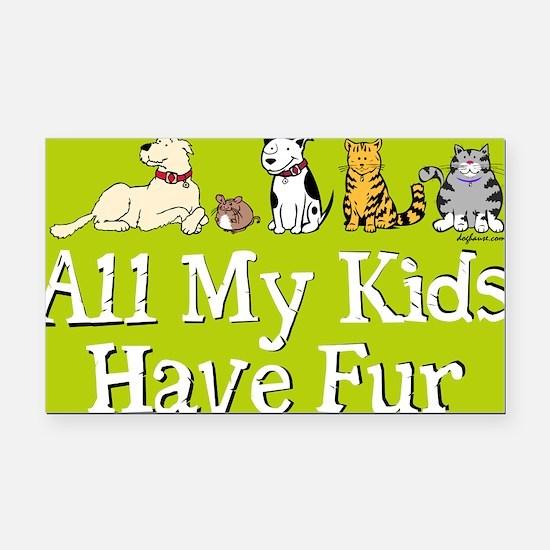 All My Fur Kids Rectangle Car Magnet