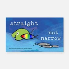 Straight But Not Narrow Rectangle Car Magnet