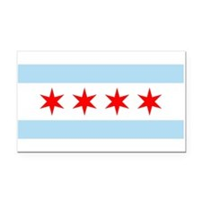 Chicago Flag Rectangle Car Magnet