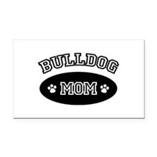 Bulldog Mom Rectangle Car Magnet