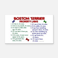 Boston Terrier Property Laws 2 Rectangle Car Magne