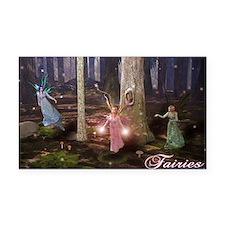 Cute Fairies Rectangle Car Magnet