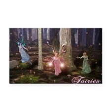 Cute Fairy Rectangle Car Magnet