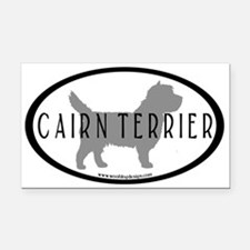 Cairn Terrier Oval #2 Rectangle Car Magnet