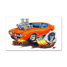 1969 GTO Judge Orange Car Rectangle Car Magnet