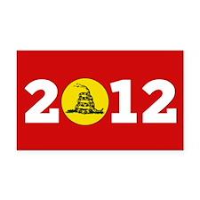 2012 Gadsden Rectangle Car Magnet