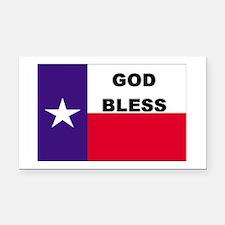 God Bless Texas Rectangle Car Magnet