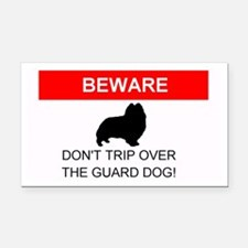 Dont Trip Over the Guard Dog Sheltie Rectangle Car