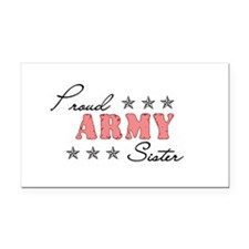 Proud Army Sister Rectangle Car Magnet