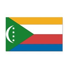 Comoros Flag Rectangle Car Magnet