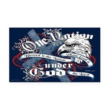 One Nation - Blessed Rectangle Car Magnet