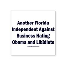 "Florida Independent Square Sticker 3"" x 3"""