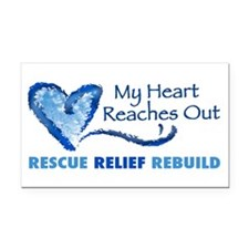 Supporting Hurricane Katrina Rectangle Car Magnet