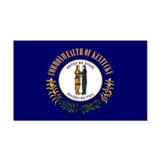Kentucky State Flag Rectangle Car Magnet