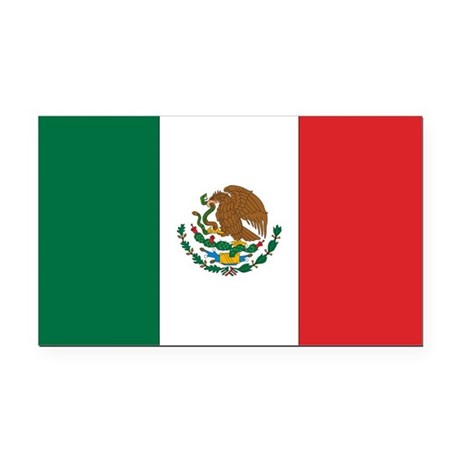 Mexican Flag Rectangle Car Magnet