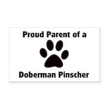 Doberman Pinscher Rectangle Car Magnet