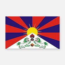 Flag of Tibet Rectangle Car Magnet