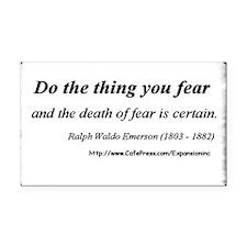 (No Fear - Emerson - A) Rectangle Car Magnet.)