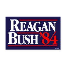 Reagan Bush '84 Campaign Rectangle Car Magnet