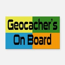 Geocacher's Rectangle Car Magnet