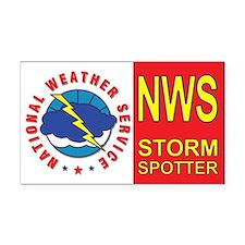 NWS STORM SPOTTER Window/Bumper Rectangle Car Magn