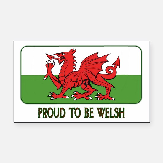 ...Proud To Be Welsh... Rectangle Car Magnet