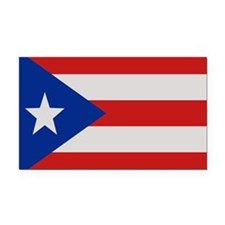 """Puerto Rico Flag"" Rectangle Car Magnet"