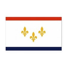 New Orleans City Flag Rectangle Car Magnet