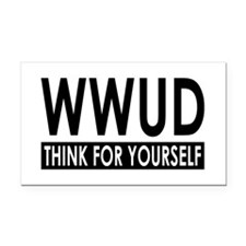 WWUD - Think For Yourself Rectangle Car Magnet