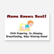 Attached Mama Rectangle Car Magnet