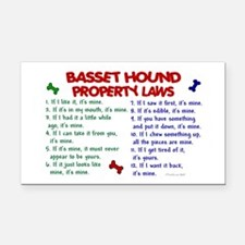 Basset Hound Property Laws 2 Rectangle Car Magnet