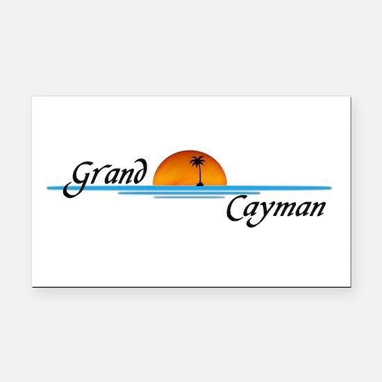 Grand Cayman Sunset Rectangle Car Magnet