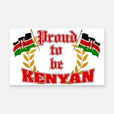 Proud to be Kenyan Rectangle Car Magnet