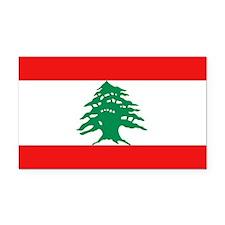 Lebanese Flag Rectangle Car Magnet