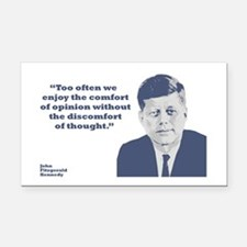 Kennedy - Opinion Rectangle Car Magnet